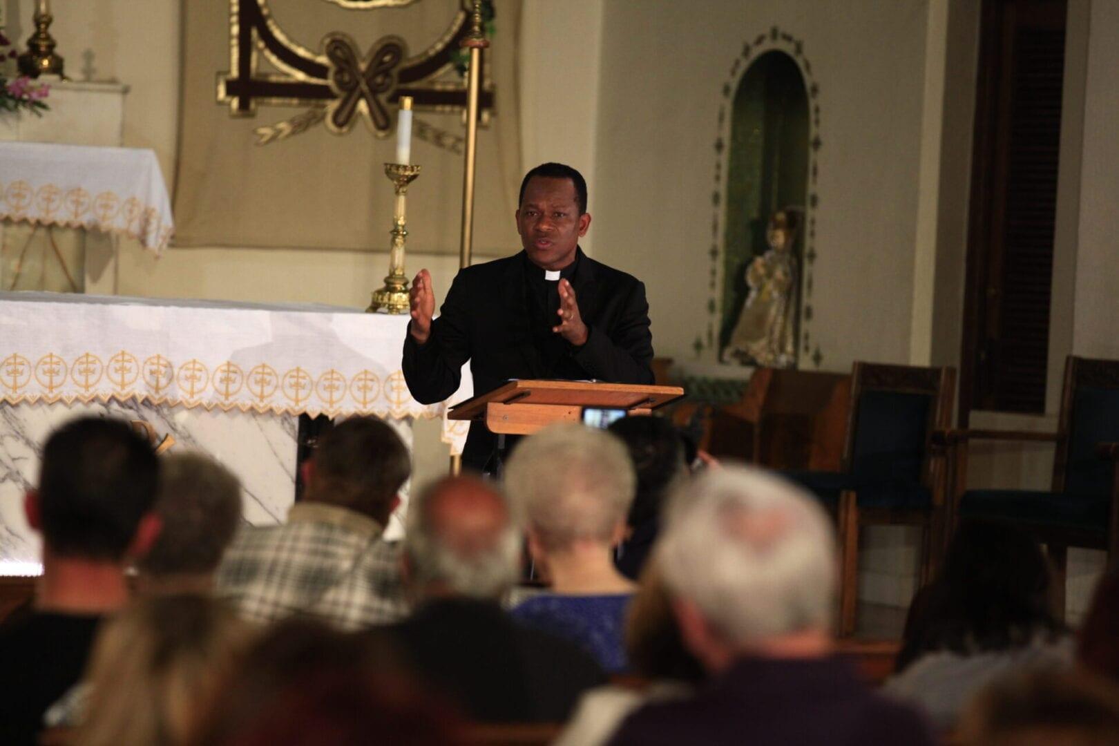 Fr. Maurice Emelu speech in the meeting