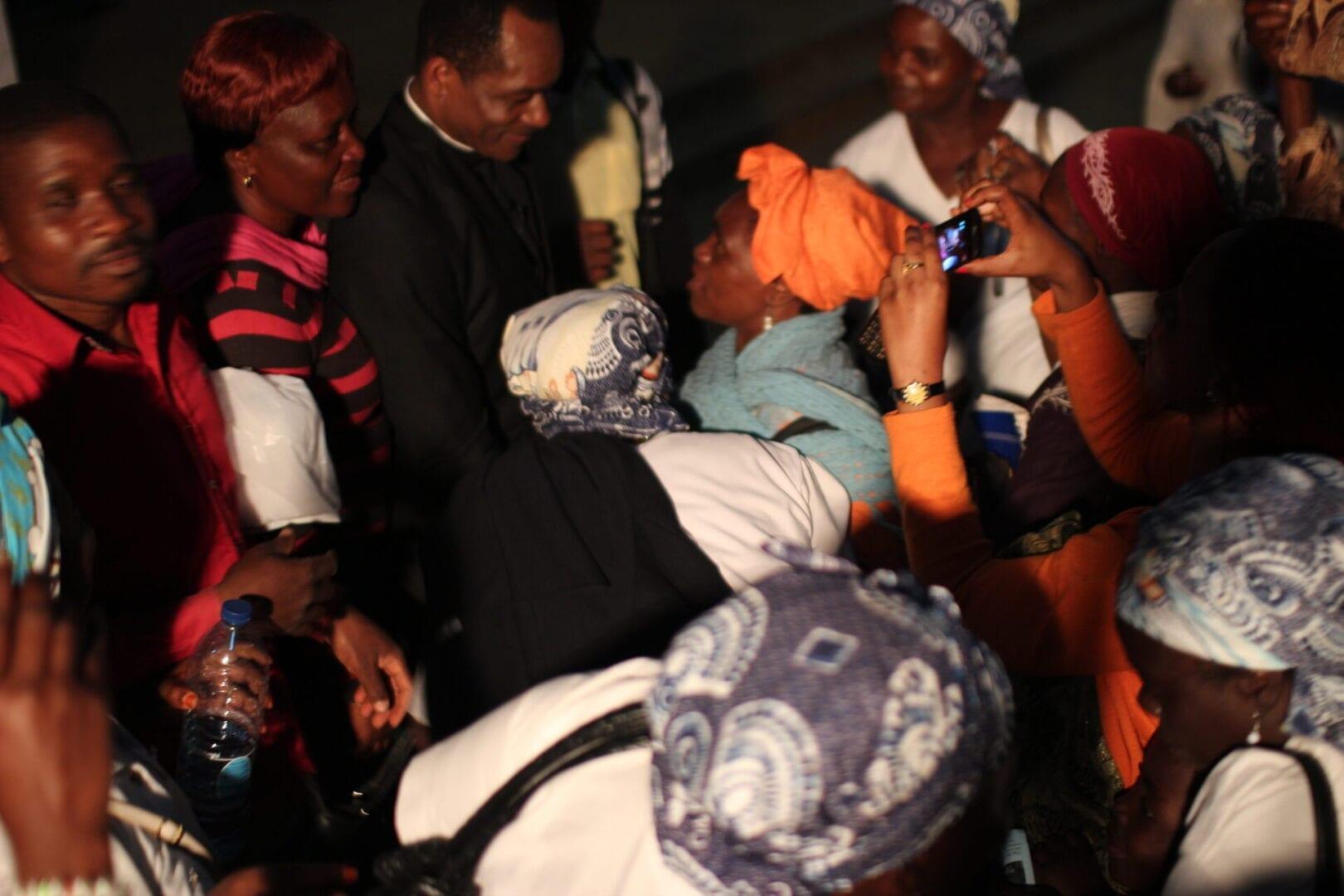 Fr. Maurice Emelu Speaking to the peoples