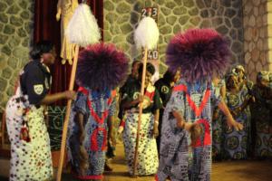A beautiful cultural dance display at holy trinity catheral church bamenda cameroon orig