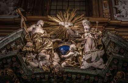 Descriptive photo of the Blessed Trinity